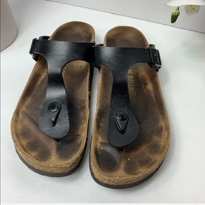 Birkenstock Black Thong Sandals Size 40